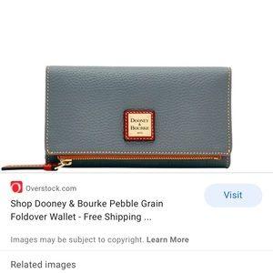 Womens Dooney & Bourke Foldover Pebble Wallet